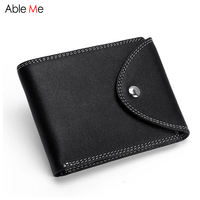 High Quality Leather Men Wallet Short Business Zipper Buckle Purse Multifunctional Card Holders Driver S License