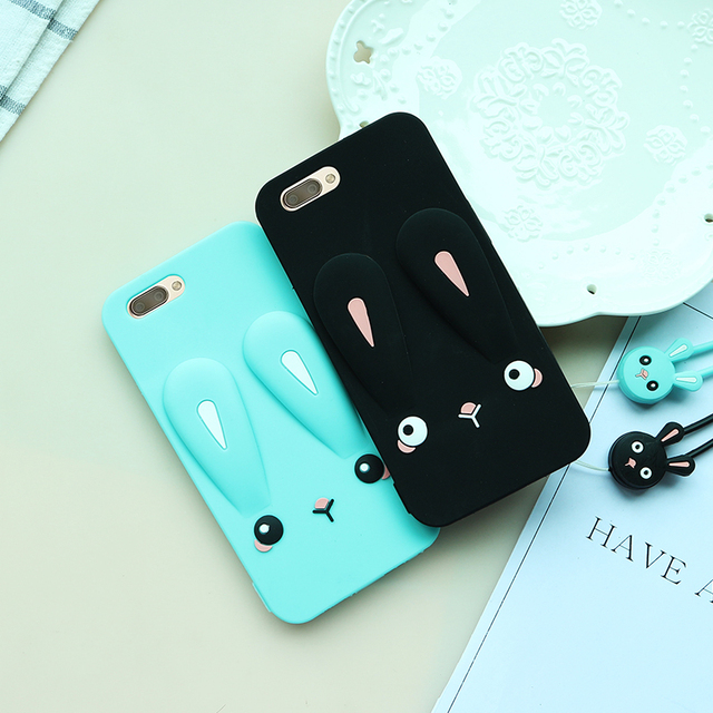 detailed look 557a3 e0f77 US $6.99  Oneplus 5 Cartoon Case, Cute Rabbit ear Silicone back phone cover  Case For OnePlus5 A5000 / 1+5 Soft phone case-in Fitted Cases from ...