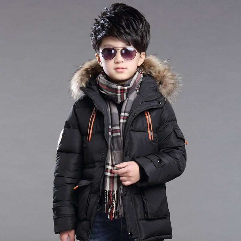5-14 Years Boys Winter Coat Hooded Thickening Warm Kids Down Jacket Windproof Casual Children Outerwear Parkas for Teens Boys girl duck down jacket winter children coat hooded parkas thick warm windproof clothes kids clothing long model outerwear