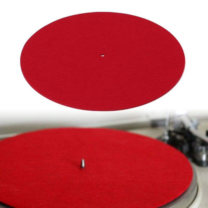 Turntable Mat Slipmat Audiophile 3mm Felt Platter Vinyl Record Players Anti-Vibration Durable Anti-Static Jan-12