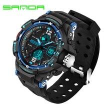 SANDA детские часы с будильником, спортивные электронные часы для улицы, многофункциональные водонепроницаемые часы с хронографом, модные часы