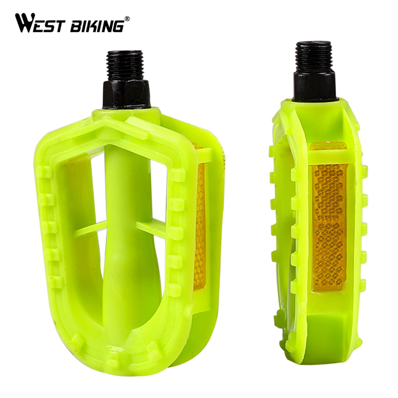WEST BIKING Kids Bike Pedals Childers Bicycle 12MM Anti-slip Plastic Replacment Pedals Cycling Tool Trike Tricycle Bike Parts