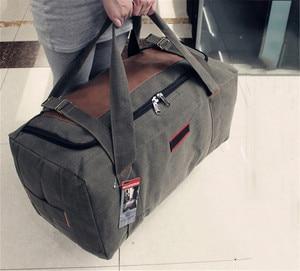 Image 2 - Men Travel Bags Large Capacity Women Luggage Travel Duffle Bags Canvas Big Travel Handbag Folding Trip Bag Waterproof