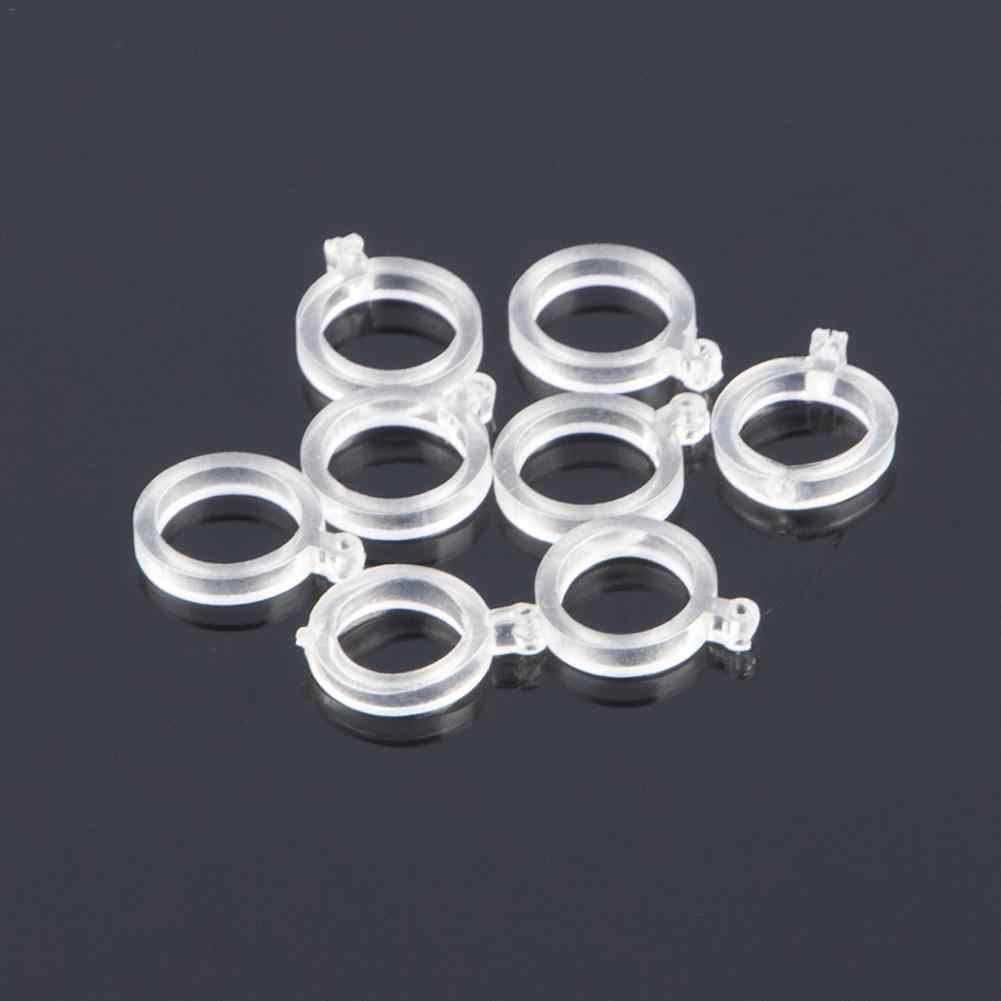 100 sztuk przynęty Opaski elastyczne na pelety pierścienie gumowe do przynęty połowów karpia przezroczyste przynęty opaski nosze rozmiar 13mm 10mm 7mm