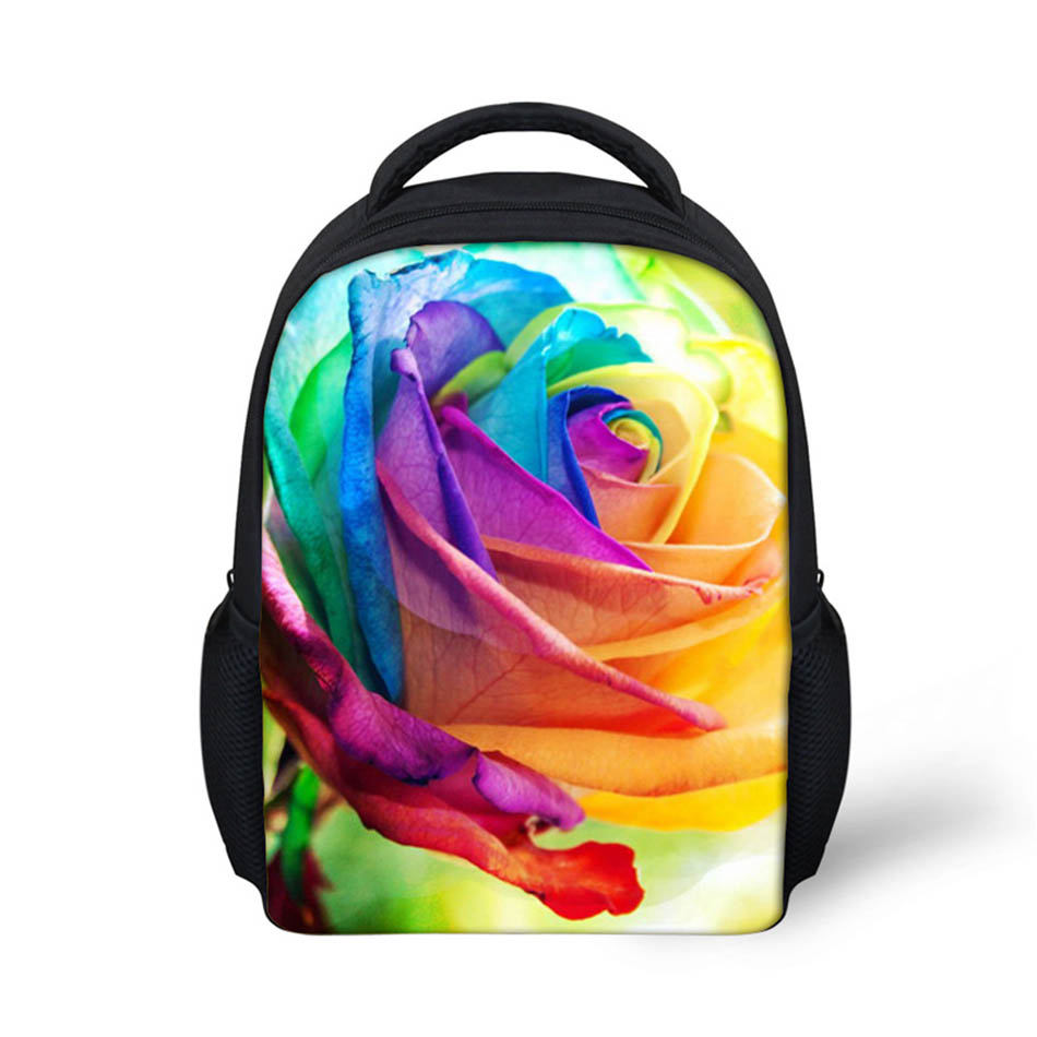 Noisydesigns Circles 3D Printing Shoulder Backpack for Teen students kid gifts bag Customize image Children Schoolbag