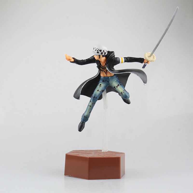 Action Figure <font><b>One</b></font> <font><b>Piece</b></font> <font><b>Ichiban</b></font> <font><b>kuji</b></font> Trafalgar Law D prize PVC 24cm Japan voyage Cartoon dolls gift Collectible Model Anime image