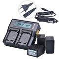 Батарея для камеры Tectra  3 шт.  NP-FV100 NP FV100 + быстрое двойное зарядное устройство с ЖК-дисплеем для Sony DCR-DVD103 XR100 для Sony HDR-XR550/E HDR-XR350/E
