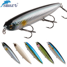 Smart 125mm 27.8g Pencil Fishing Lures Topwater VMC Treble Hook Isca Artificial Bait Para Pesca Wobblers Hard Lure Leurre Souple
