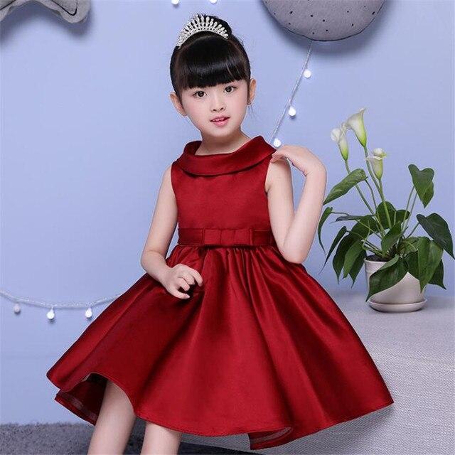c77f1bd78 Nueva princesa vestido color rojo Niñas desgaste del partido vestido de noche  vestido de la muchacha