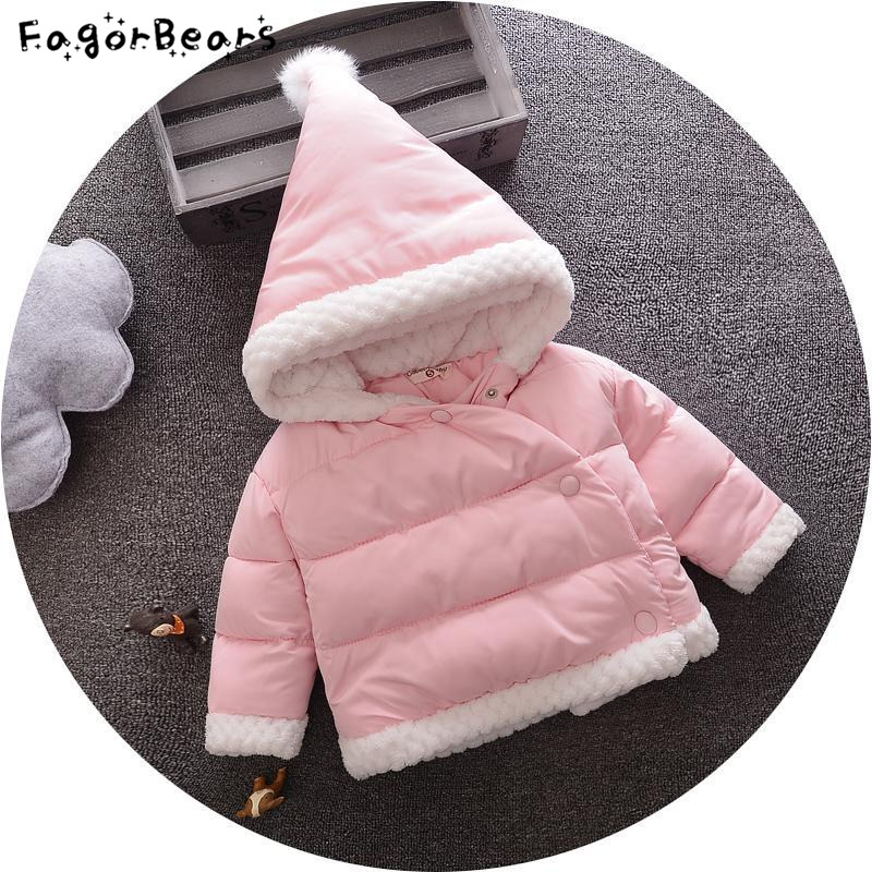 Baby Girls Winter New Casual Childrens Cotton Korean Version Of The Thickening Thick Cotton Padded Children Hooded Clothes