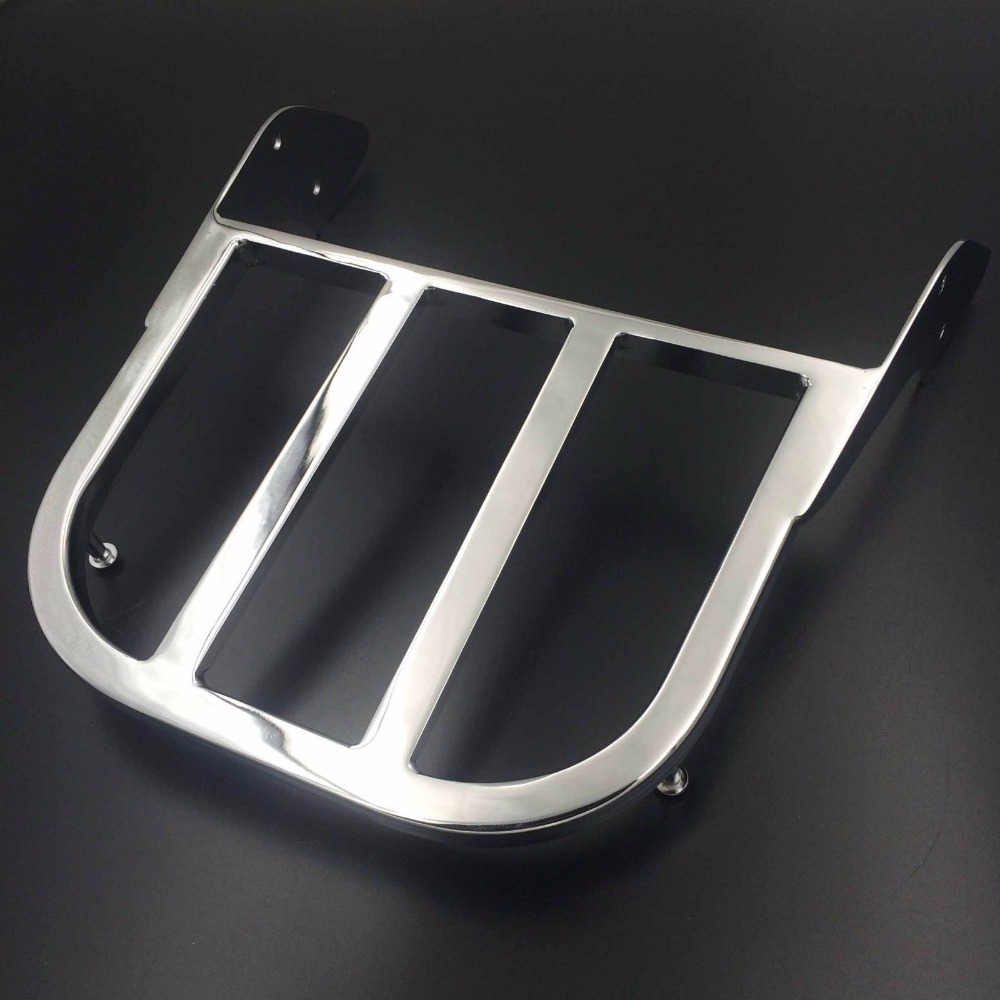 Chrome Black Motorcycle Sissy Bar Luggage Rack Support Shelf For Honda Spirit 750 VLX 600 ACE 750 1100 ACE Tourer Sabre Magna motorcycle 16 5 cm saddle bag support bar mount bracket for honda shadow ace vt vt400 vt750