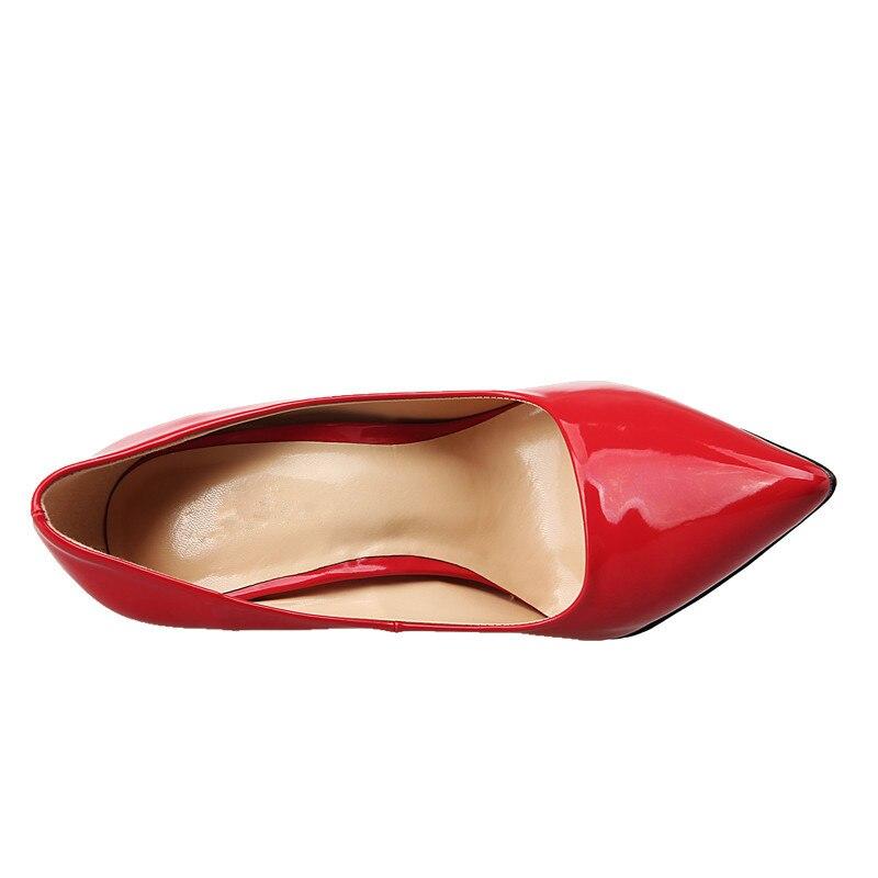 Tacón Color Tamaño Noche De blanco Tinto Antideslizante Zapatos Sexy Rojo Fiesta Bombas Stiletto rojo 49 En Punta Básicos 12 Gran Cm 40 Las Mujeres vino Negro Alto awtqvv
