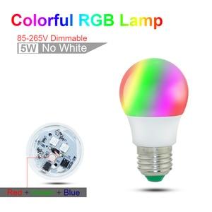 Image 2 - E27 E14 LED הנורה RGB מנורת 110V 220V 3W 5W 10W 15W RGBW RGBWW RGB LED אור הנורה 16 צבעים עם שלט רחוק IR שינה דקור