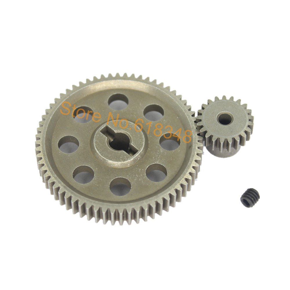 11184 Steel Metal Diff.Main Gear 64T 11181 Motor Gear 21T RC Parts For 1/10 HSP BRONTOSAURUS Monster Truck Himoto Redcat  94111