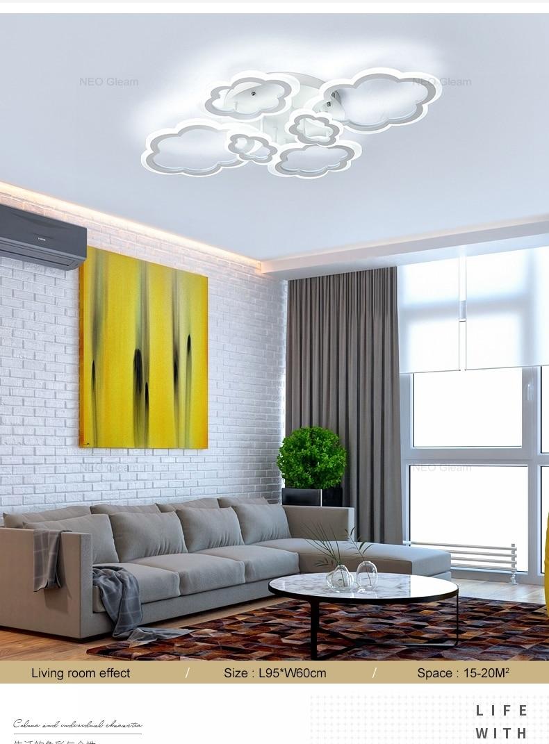 HTB19DArbdfvK1RjSspfq6zzXFXat Clouds Designer Minimalist Modern led ceiling lights for living Study room bedroom AC85-265V modern led ceiling lamp fixtures