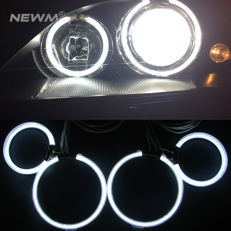 WHITE 6000K CCFL Headlight Halo Angel Demon Eyes Kit angel eyes light for FORD Mondeo MK3 2001 2002 2003 2004 2005 2006 2007 2pcs purple blue red green led demon eyes for bixenon projector lens hella5 q5 2 5inch and 3 0inch headlight angel devil demon