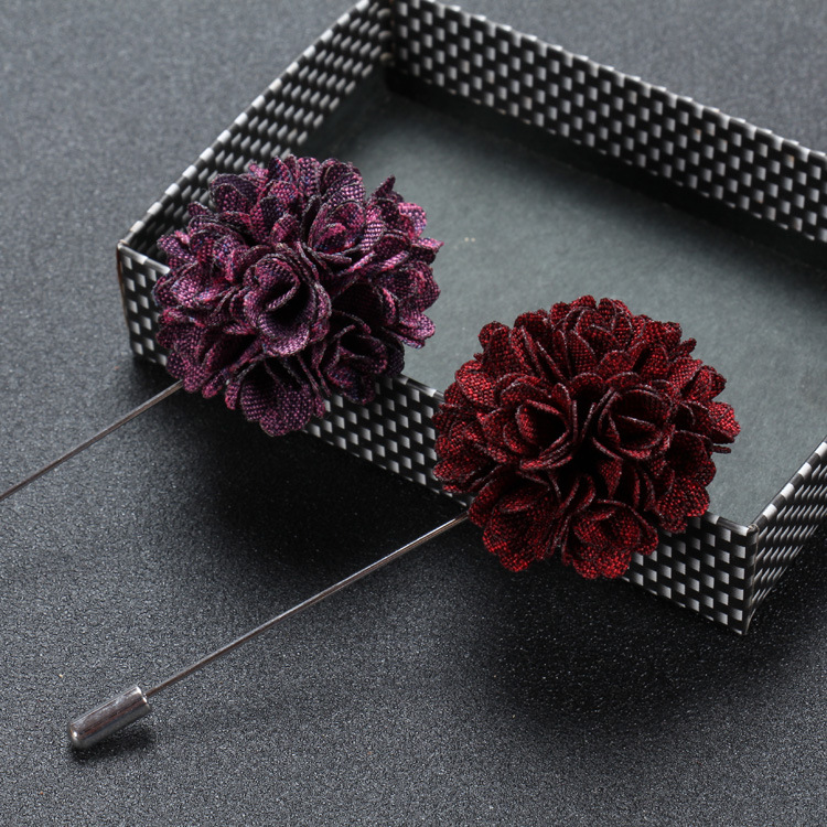 Free shipping, Mens Floral Lapel Pin, Boutonniere Flower Lapel Pins for Party Business Wedding Small Gift