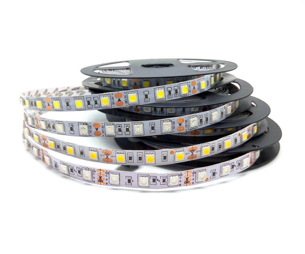 5050 RGB LED Strip 12V Flexible Decoration Lighting 300LED Non-Waterproof LED Tape 5m/Lot