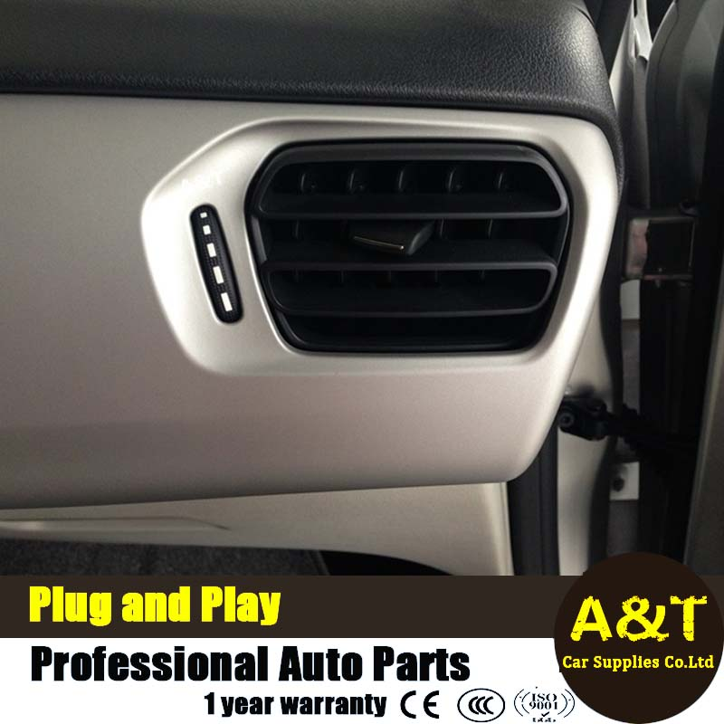 For Peugeot 301 vent decoratieve frame chrome trim auto styling 2016 interieur airconditioning vent strip stickers Car Acces