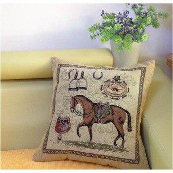 Cavalo Capa de Almofada decorativa, Homem e Mulher Capa de Dlmofada Cojin, Sofá Cama Carro Caso Jogar Travesseiro