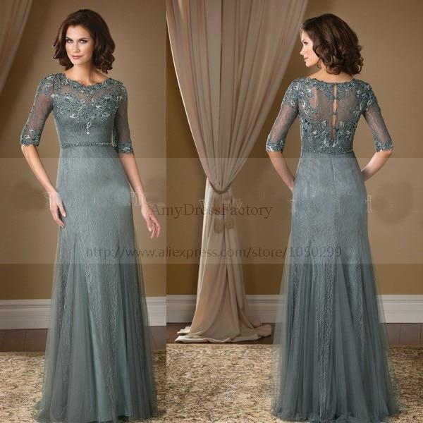 Hairstyle For Wedding Godmother: 2015 Latest Design Graceful Lace Chiffon Godmother Dress