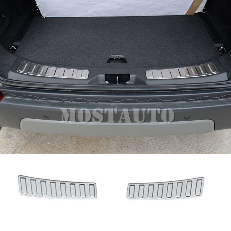 For Land Rover Discovery Sport Rear Bumper Cargo Door Sill Scuff Plate 2015 2018 2pcs