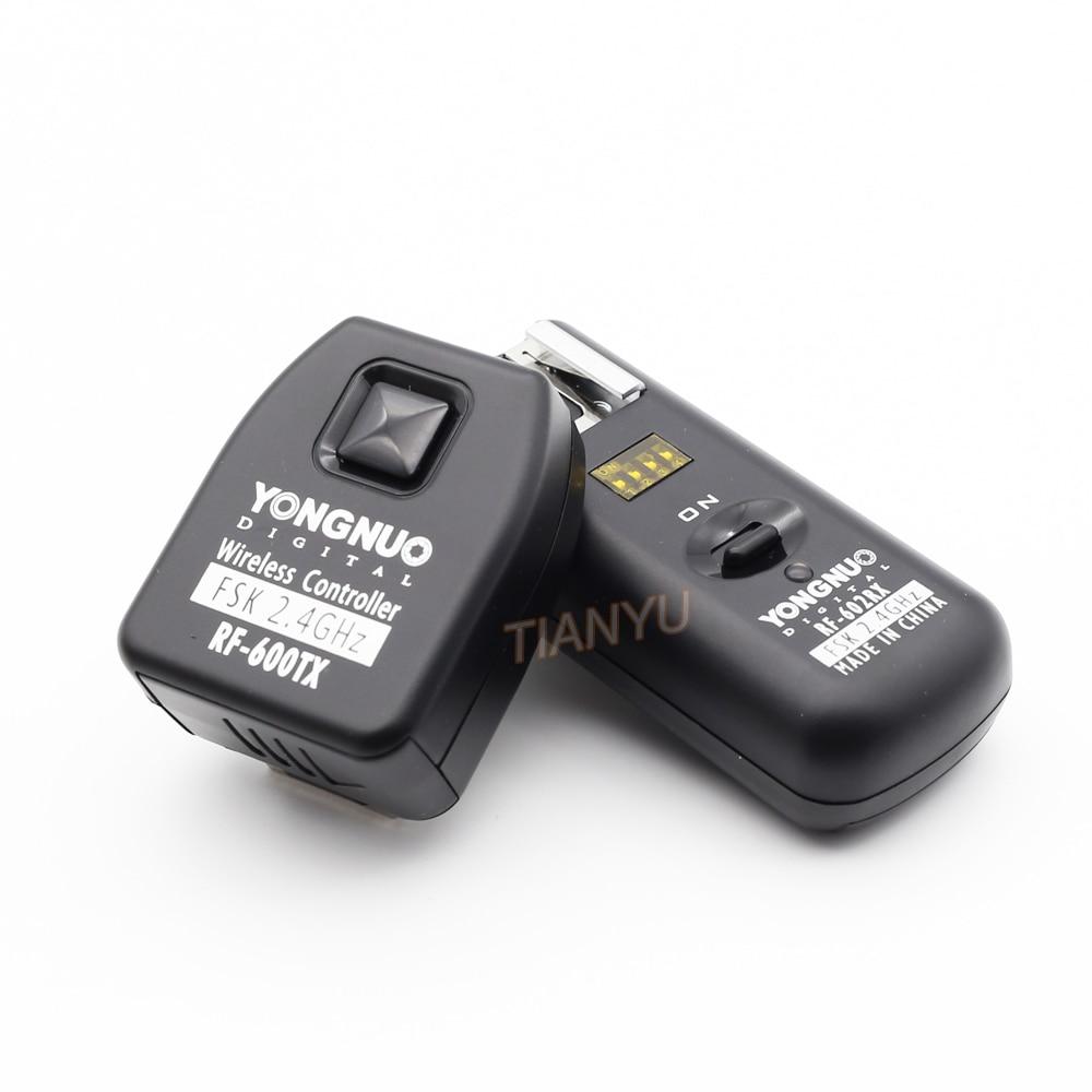 YONGNUO RF-602 2.4GHz Wireless Flash Trigger with Studio Cord with 1 Receiver for Nikon D70/ D70s/D80 дистанционный спуск затвора для фотокамеры pixco lcd nikon d70s d80 trs01