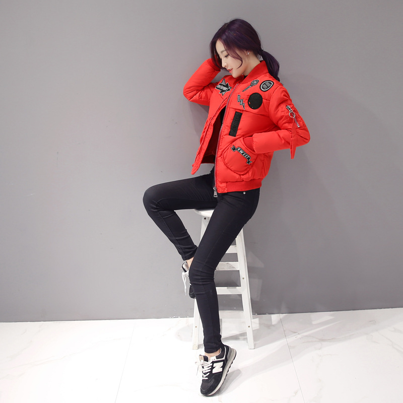 2016 New Korean Baseball Uniform Jacket Slim Short Coat Free Shipping