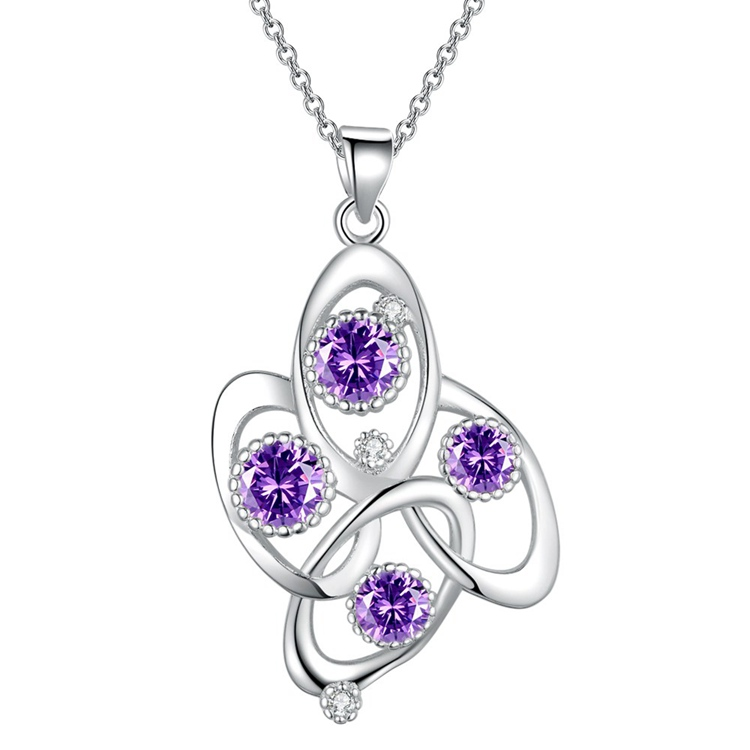 wholesale High quality silver plated Fashion jewelry Necklace pendant WN1868