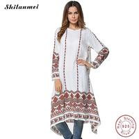 Dress 2017 Women Long Sleeve Dress Maxi Long Dress Geometry Clothing Moroccan Kaftan Elegant Embroidery Ethnic