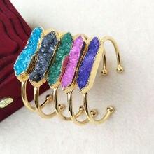 5 шт драгоценные браслеты золотого цвета