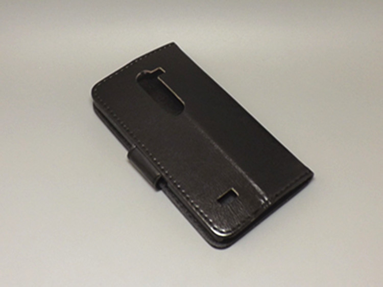 Crazy horse wallet case hold two Cards with 2 Card Holder and pouch slot For LG Leon C40