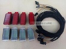 8 штук салона Светодиодная лампа двери Аварийные огни для Audi A4 A5 A6 A7 Q3 Q5 8kd 947 411*4  3ad 947 409 (LED) * 4