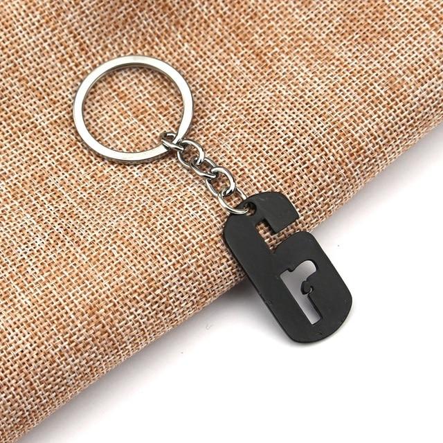 Hot Rainbow Six Keychain Siege 6 Key Ring Holder Fashion Car Chaveiro Game Key Chain Pendant men Gift Jewelry 1