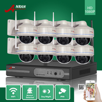 ANRAN 8CH P2P 1080P WIFI NVR 30 IR Outdoor Vandal Proof Dome Wireless IP Camera Surveillance