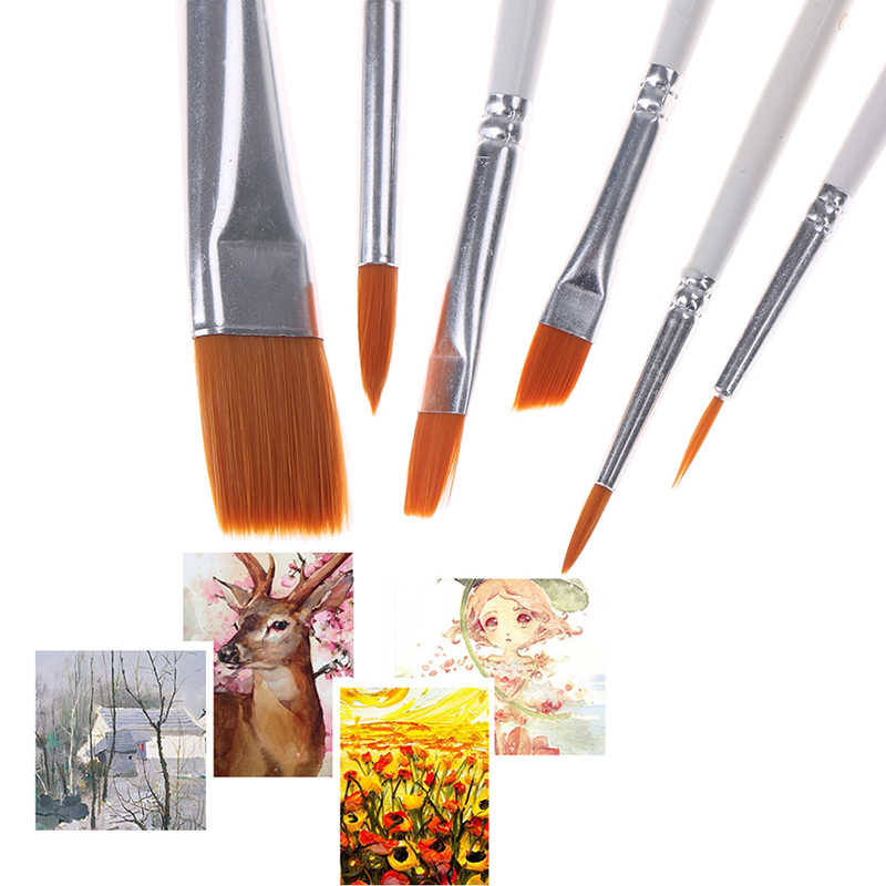 Set Painting Brushes Hand-painted Drawing Art Paint Brush Hook Line Pen Art Supplies Nylon Brush Painting Pen