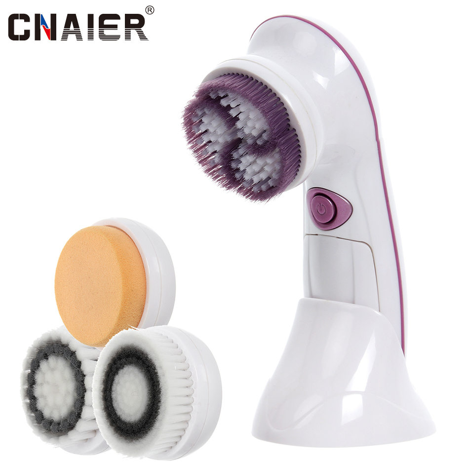 [CNAIER]Facial Cleansing Brush Electric Massager Powered Cleaning Device Beauty Health Personal Care Brush For Acne Face AE-8289