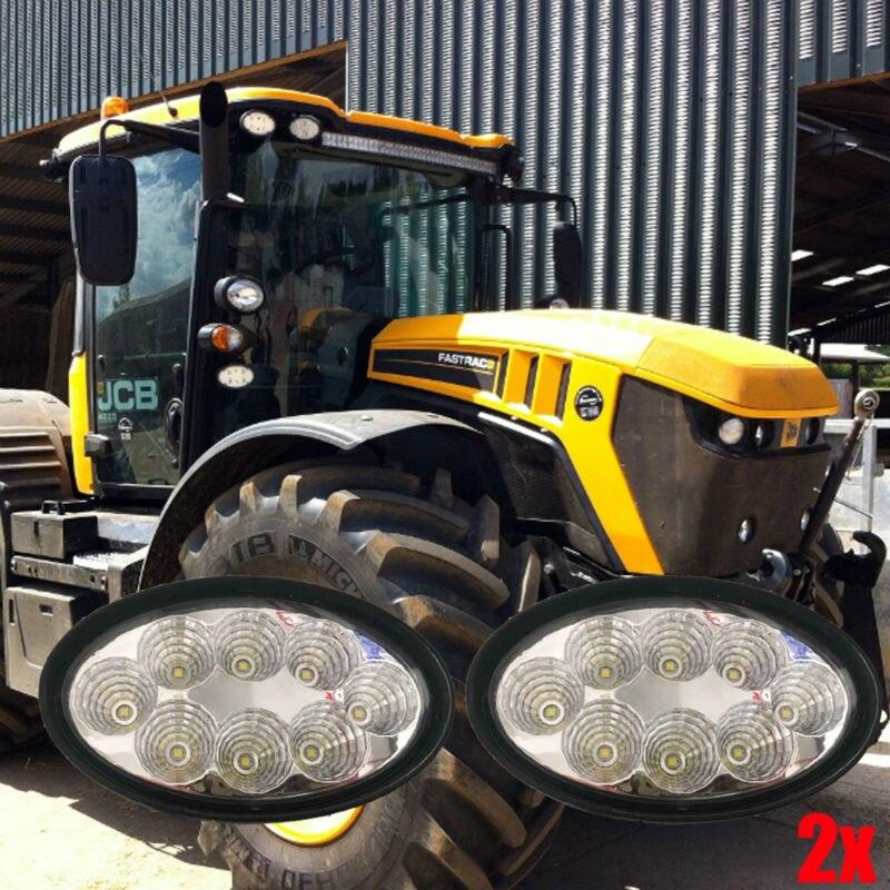 12В 24В овальной формы ЭМС Сид 40watt трактор свет работы сельскохозяйственных фары с 360 градусов поворотный монтаж 2шт/много бесплатная доставка