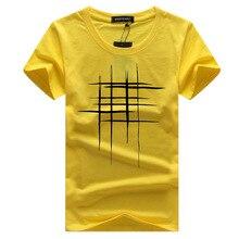 New Men Summer T- shirt Brand-Clothing Print T shirt Male Print Slim Fit Short Sleeve Tshirt Yellow White Tshirt For Male