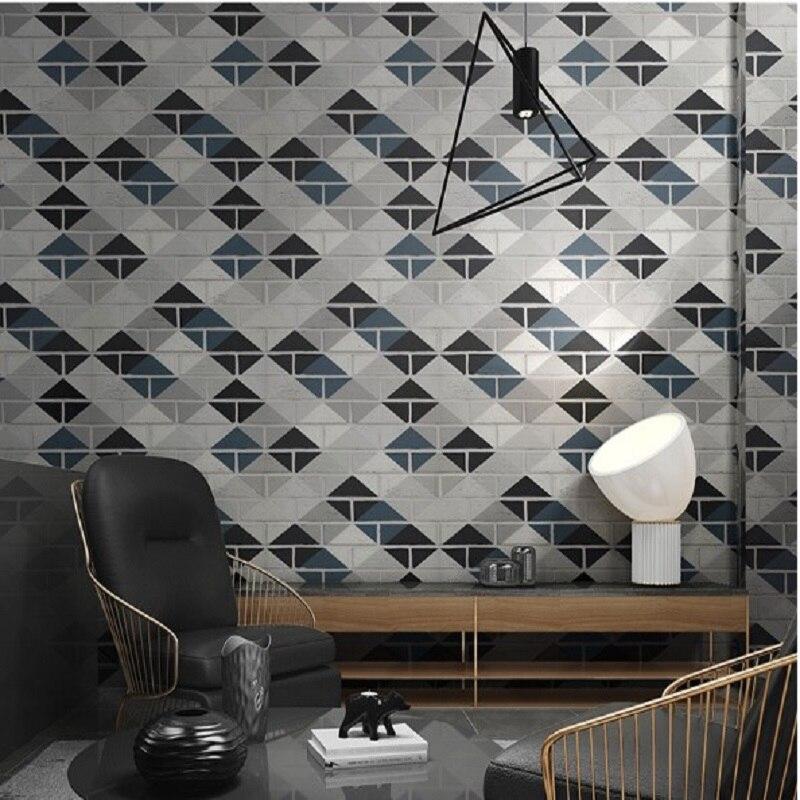Brique papier peint moderne géométrique troupeau papier peint décoration de la maison mur décor pour Restraunt/boutique papier peint papel de parede tapete