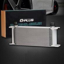 Gplus 16 Row-10an Масляный Радиатор Универсальный Двигатель Трансмиссия Масляный Радиатор Цвет Серебристый