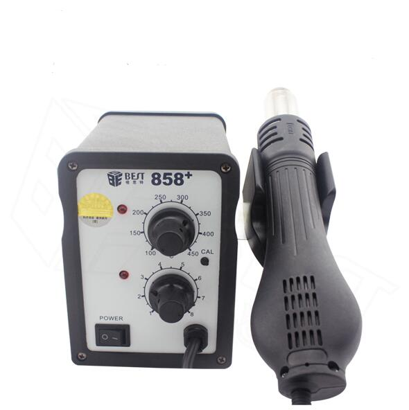 Desoldering gun hot air desoldering station LED display BST-858D+ 220v lead free repairing system desoldering station of aoyue 2702a hot air gun desoldering gun