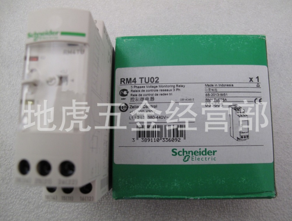 Schneider power control relay RM4TU02 phase sequence and phase detection