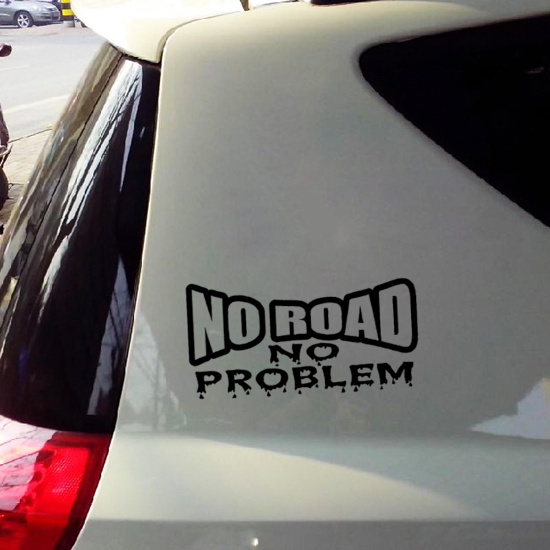 No Road No Problem  Vinyl Decal Sticker 350 Truck Offroad 4x4 Diesel 2500 Funny free shipping 1pc 580mm dirty tire 4wd off road graphic vinyl sticker for 4x4 truck pickup decals badges detailing sticker
