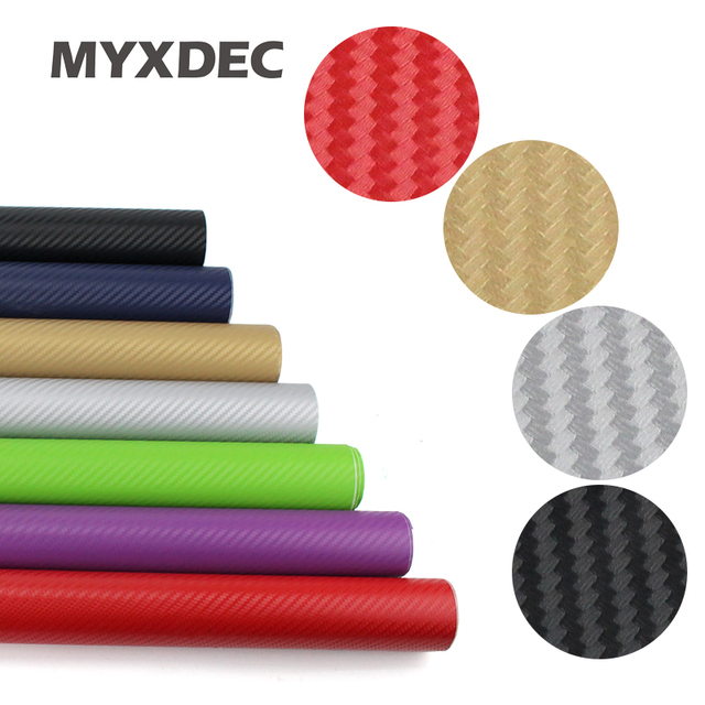 127*30CM 3D Carbon Fiber Vinyl Car Wrapping Foil Carbon Fiber Car Decoration Sticker Many Color Option Car Styling Decoration