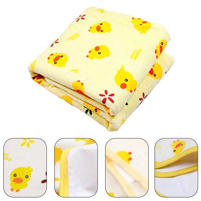 New Baby Infant Thicken Waterproof Urine Bed Mat Cartoon Reusable Diaper Travel Home Cover Burp Changing Pads