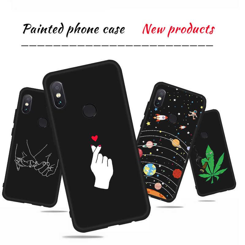 מגניב דפוס טלפון מקרה עבור שיאו mi אדום mi הערה 6 פרו S2 mi A2 8 לייט 6X Pocophone F1 6A 5A 5 בתוספת שחור מט רך סיליקון כיסוי