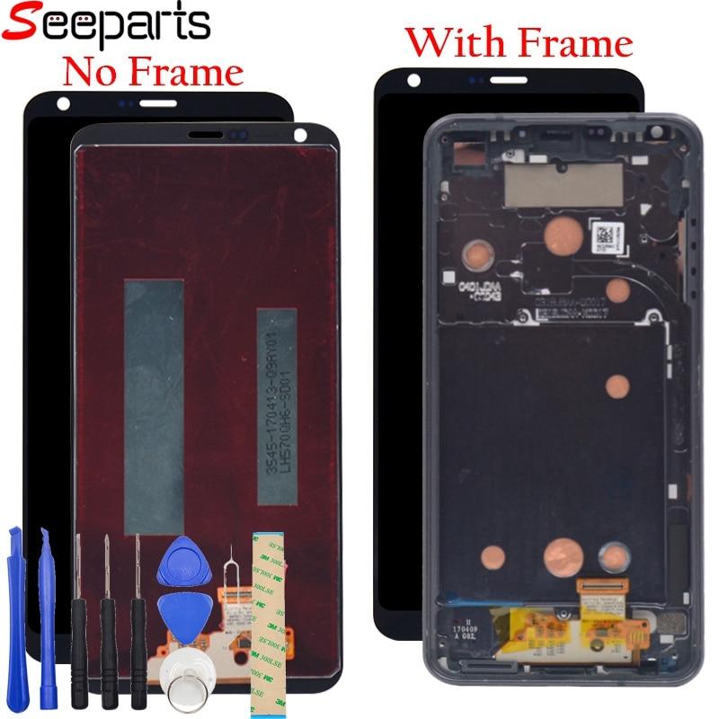 100% écran testé pour 5.7 pouces LG G6 écran LCD avec cadre écran tactile numériseur assemblée pièces de rechange pour LG G6 vs988t