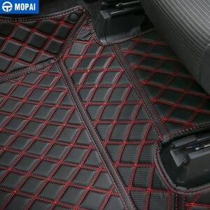 Image 5 - MOPAI 자동차 인테리어 액세서리 가죽 바닥 매트 발 패드 키트 장식 커버 포드 F150 2015 위로 자동차 스타일링