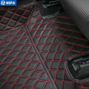 Image 5 - MOPAI araba iç aksesuarları deri paspaslar ayak pedleri kiti dekorasyon kapak Ford F150 2015 Up araba Styling